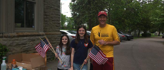 Flagging Montegomery and Walnut Hills